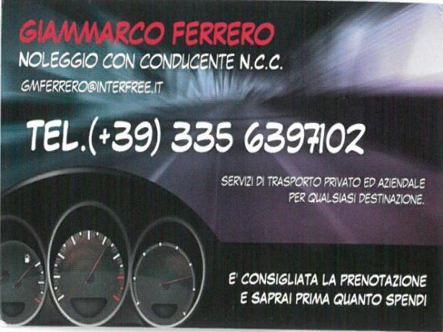 AUTONOLEGGIO CON CONDUCENTE DI GIAMMARCO FERRERO